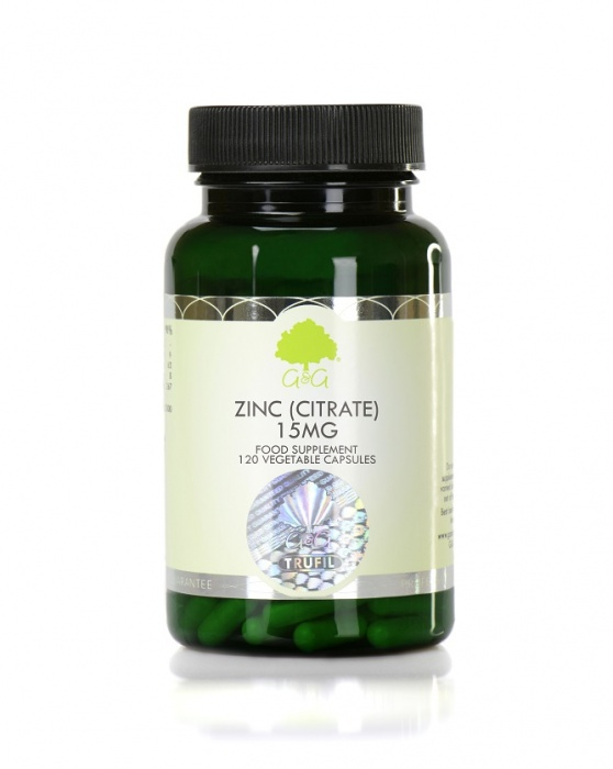 Zinc (Citrate) 15mg - 120 Capsules