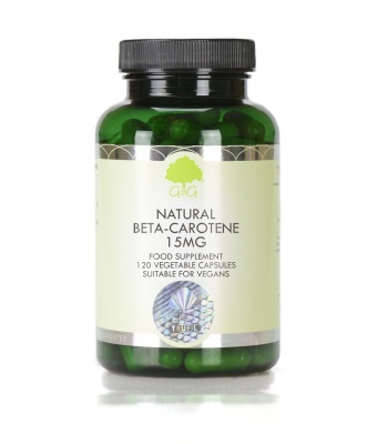 Natural Beta-Carotene 15mg (from micro-algae) - 120 Capsules