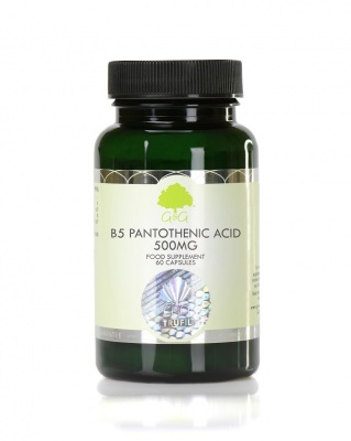 Vitamin B5 Pantothenic Acid 500mg - 60 Capsules